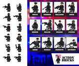Compatible Lego Police City Police Army Minifigures with Military Weapons 12 Minifigures total - ModernKitchenMaker.com
