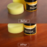BeesWax for Wood, Wood Seasoning Beewax for Furniture and Wood Polish Comes with Yellow Sponge