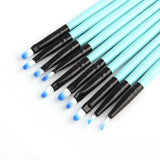 Makeup Brushes Travel Set with Bag (Blue) - set of 32 brushes - ModernKitchenMaker.com