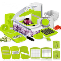 Mandoline Slicer - Peel, Slice,Grate All Your Vegetables and Ingredients with 7 Dicing Blades - ModernKitchenMaker.com