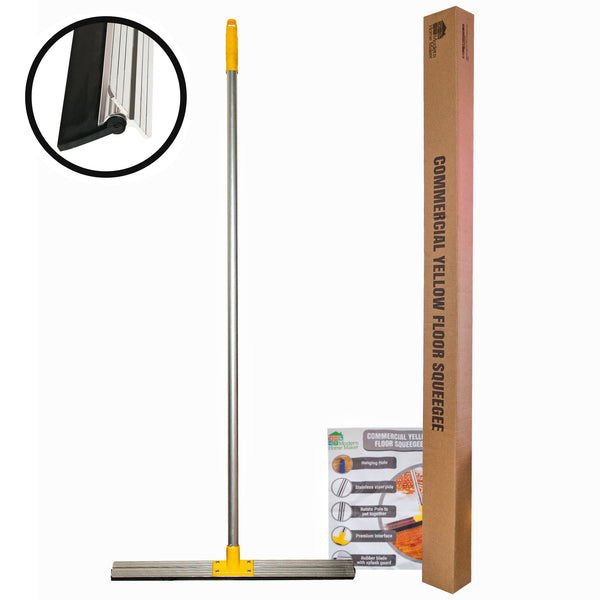 Floor Squeegee Commercial squeegee Heavy Duty Long Handle Squeegee squeege water broom - ModernKitchenMaker.com