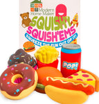 Jumbo SQUISHIES of America's favorite food, Hamburgers, Hot Dogs, Pizza, Doughnuts, Cupcakes, Soda, French Fries Stress Relief Toys