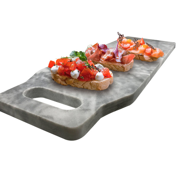 White Marble Board Cutting Board Marble Pastry Board Cheese Board Paddle Board - ModernKitchenMaker.com