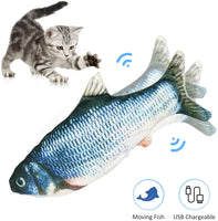 Realistic 3D Printed Electric Moving Fish Cat Toy