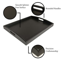 Black Serving Tray Ottoman Tray Decorative Tray Serving Tray Coffee table tray - ModernKitchenMaker.com