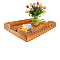 Ottoman Tray Decorative Tray Serving Tray Coffee table tray Rustic Inspired - ModernKitchenMaker.com