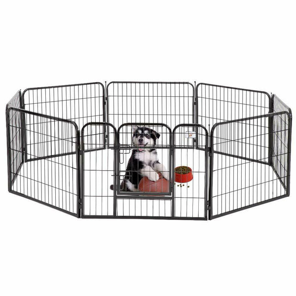 Heavy Duty Dog Cat Pet Cage 8 Panel Folding Fence