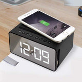 Wireless Charging Radio Clock Alarm Clock with Bluetooth Speakers - ModernKitchenMaker.com