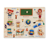 Toddler Puzzles Educational Wooden Puzzles for Preschoolers Kids Fun Puzzle Game - ModernKitchenMaker.com