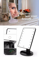 Countertop Makeup Mirrors with Light, Touch Screen LED Lights - ModernKitchenMaker.com
