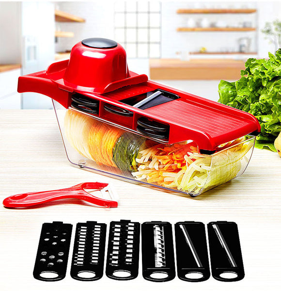 Vegetable / Fruit Slicers & Cutter With Adjustable Stainless Steel Blades - ModernKitchenMaker.com