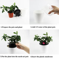 Self Watering Plant Pot (3 Pot Set) - ModernKitchenMaker.com