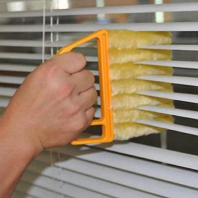 Set of 2 Microfiber Blinds / Air Conditioner Cleaner - ModernKitchenMaker.com
