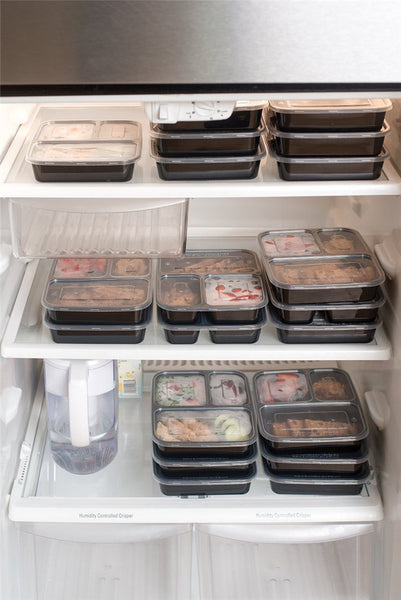 Pack of 5 Stackable Meal Prep Food Storage Containers with Lids - ModernKitchenMaker.com