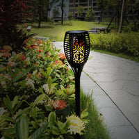 Indoor / Outdoor Solar Flame Flickering Lawn Lamp Great Garden Decor - ModernKitchenMaker.com
