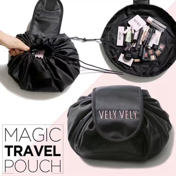 Traveling Cosmetic Bag with Drawstring Organize Your Make Up On The Go - ModernKitchenMaker.com