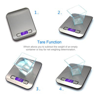 Multi-function Digital Food Kitchen Scale, Stainless Steel w/ LCD Display - ModernKitchenMaker.com