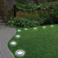 Solar Powered LED Disk Lights Waterproof - ModernKitchenMaker.com