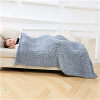 Chunky Knitted Wool Think Blanket - ModernKitchenMaker.com