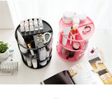 360 Degree Makeup Organizer with adjustable levels and large capacity racks - ModernKitchenMaker.com