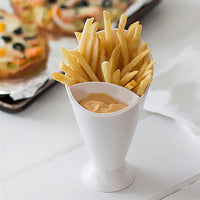 French Fry / Finger Foods Dipping Cup with Sauce Holder - ModernKitchenMaker.com