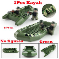 Compatible Lego Army Kayaks Green and Grey Building Blocks Toy - ModernKitchenMaker.com