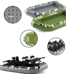 Army Kayaks Green and Grey Building Blocks Toy - ModernKitchenMaker.com