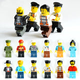 Building Block Compatible Figures Of Police Soldiers and Occupations (24 Piece Set) - ModernKitchenMaker.com
