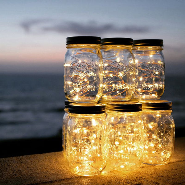 Solar Mason Jar Christmas Lights - ModernKitchenMaker.com