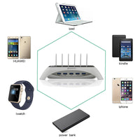 USB Lightning Charging Port For Up to 5 Devices (White) - ModernKitchenMaker.com
