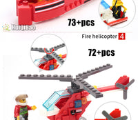 Fire Truck and Fire Fighter Building Block Compatible Figure Set 348 Pieces - ModernKitchenMaker.com