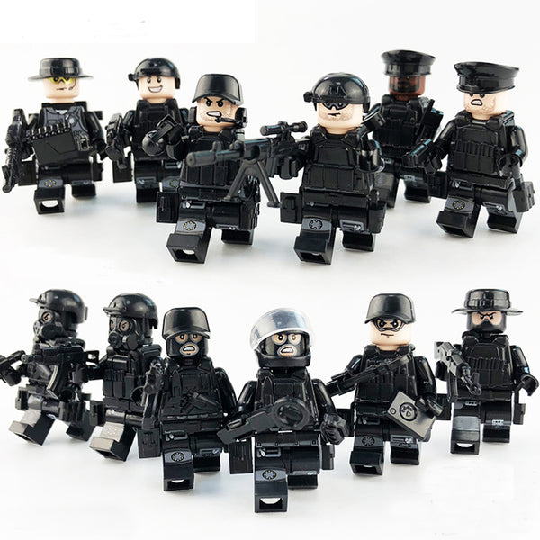 City Police Team with Bulletproof Vests, Weapons and Gas Masks 12 Minifigures total - ModernKitchenMaker.com