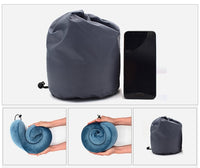 Memory Foam Travel Pillow / Memory Foam Neck Pillow with Carrying Bag - ModernKitchenMaker.com