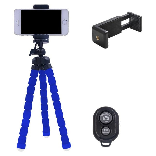 Iphone Tripod / Go Pro Tripod Samsung Tripod w/ Bluetooth Remote Great for Selfies or Group Photos - ModernKitchenMaker.com