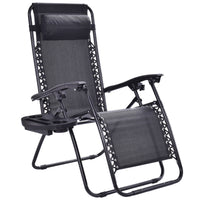 Zero Gravity  Reclining Lounge Chair for Beach or Outdoor w/ Utility Tray - ModernKitchenMaker.com