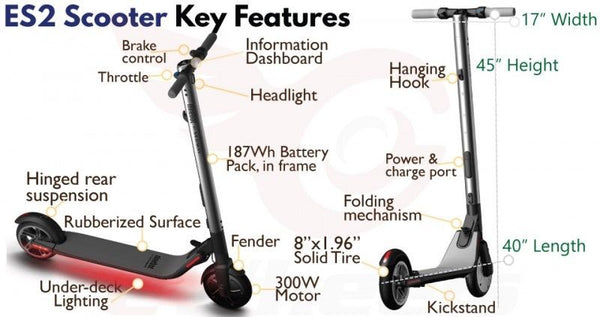 Segway Scooter Segway ES2 Segway ES4 with Upgrade Battery by Ninebot