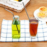 Reusable Stainless Steel Drinking Straws with 3 Cleaning Brushes (8 pieces) - ModernKitchenMaker.com