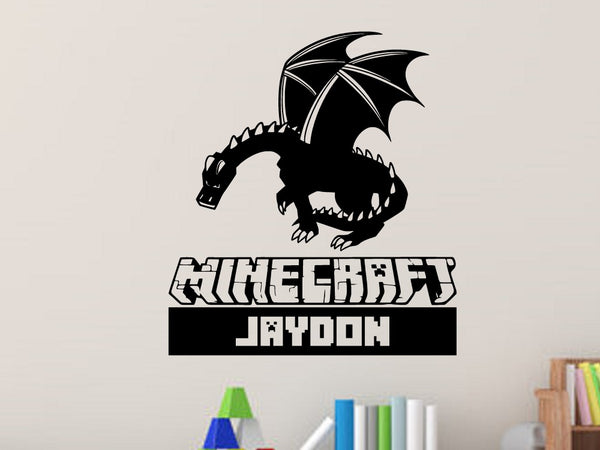 Minecraft Ender Dragon Personalized Vinyl Wall Decal