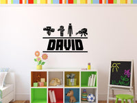 Minecraft Mob Personalized Vinyl Wall Decal for Gamers