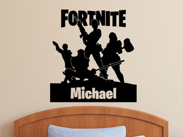 Fortnite Personalized Vinyl Wall Decal