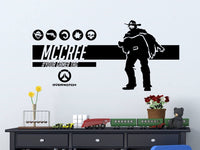 Overwatch McCree| Personalized Vinyl Wall Decal