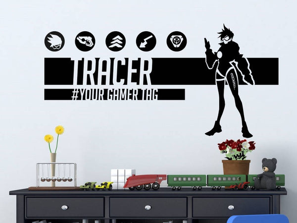 Overwatch Tracer | Personalized Vinyl Wall Decal