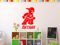 Lego Flash Personalized Vinyl Wall Decal