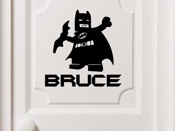 Lego Batman Personalized Vinyl Wall Decal
