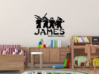 Lego Ninjago Personalized Vinyl Wall Decal