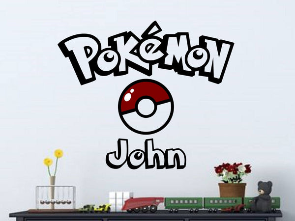 Pokemon Logo Personalized Vinyl Wall Decal