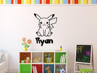 Pokemon Pikachu Personalized Vinyl Wall Decal