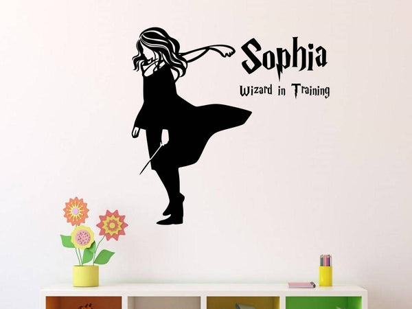 Hermione Wizard in Training Wall Decal | Personalized Name Vinyl Wall Decal/Sticker