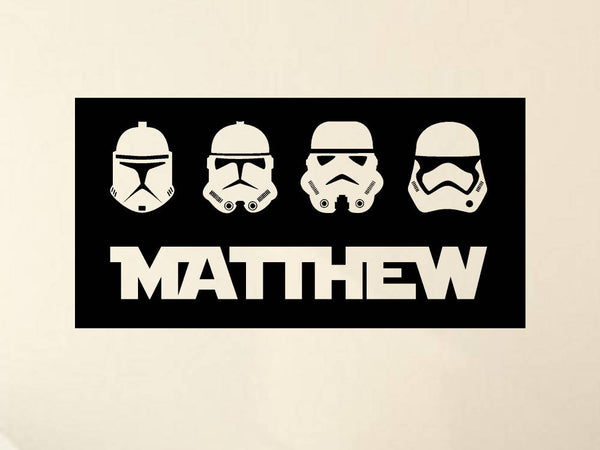 Star Wars Stormtroopers Personalized Vinyl Wall Decal/Sticker Boys Decor