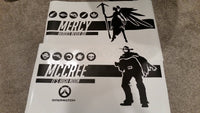 Overwatch Mercy | Personalized Vinyl Wall Decal